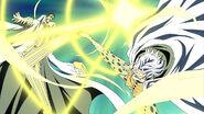 Rayleigh blockiert Kizarus Angriff auf Zoro