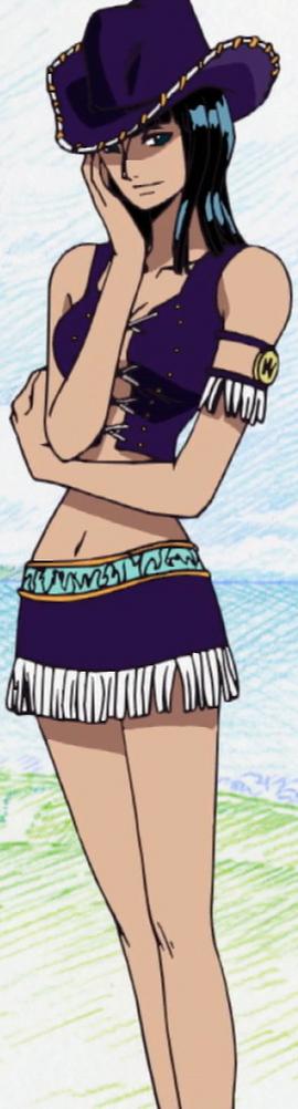 Nico Robin before the timeskip in the anime