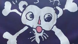 L'actuel Jolly Roger dessiné par Luffy