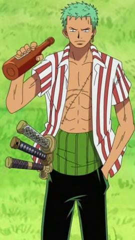 Roronoa Zoro antes do timeskip no anime