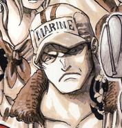 Sakazuki as a Young Marine
