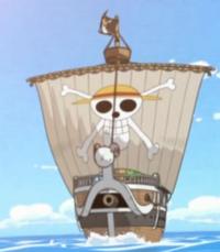 O primeiro navio do Chapél de Palha, o Going Merry