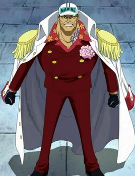 Sakazuki before the timeskip in the anime