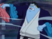 Jinbe nel quartiere degli uomini-pesce
