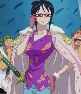 Tashigi tras el salto temporal en el anime