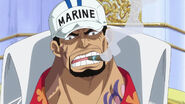 Großadmiral Sakazuki in Mary Geoise nach Doflamingos Niederlage in Dressrosa