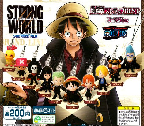 One Piece Strong World Cellphone Strap
