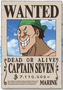 Captain Seven Wanted Poster