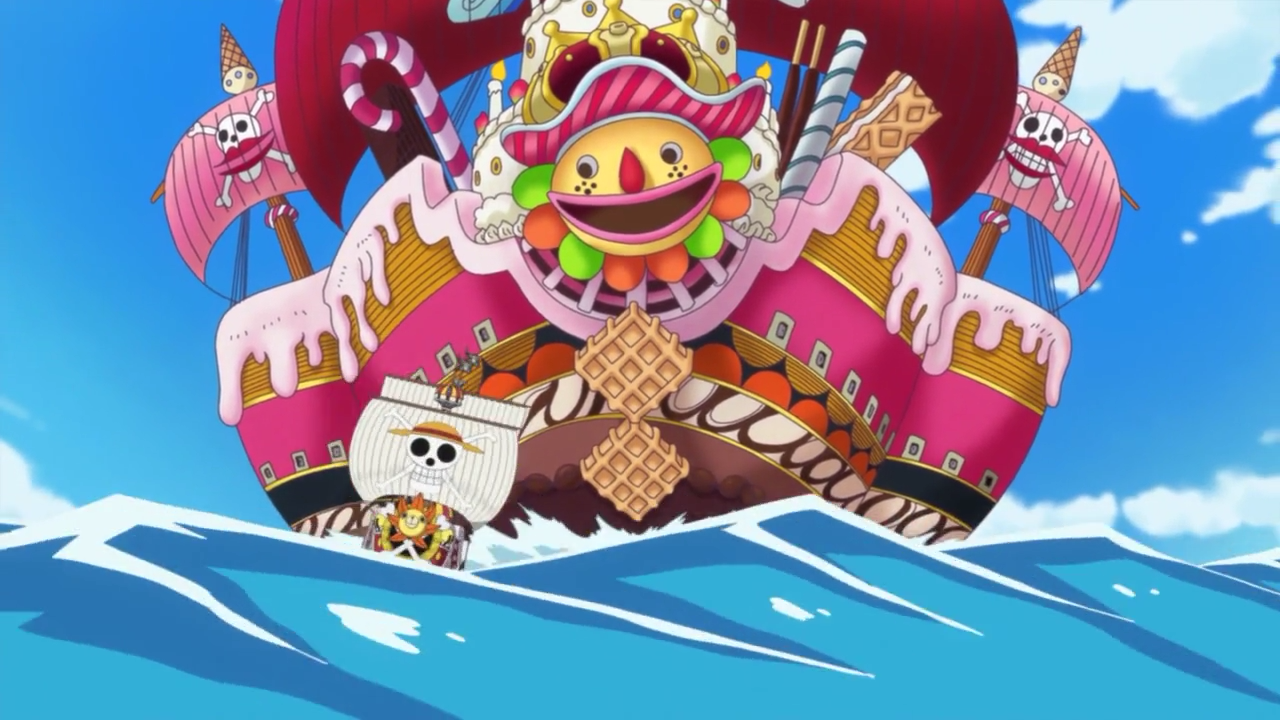 Vinsmoke Sanji, Nami, Tony Tony Chopper e Brook Vs Piratas da Big Mom