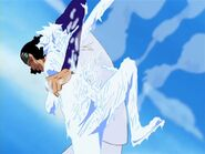 Aokiji congela a Luffy