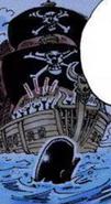 Początkowy wygląd statku załogi Rumbowych
