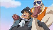 Gum grabs Fire Tank Pirates member