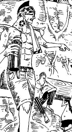 Kamakiri tras el salto temporal en el manga