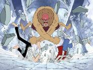 Chopper verpasst Sanji und Luffy eine Kopfnuss