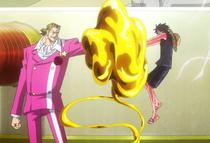 Film Gold Luffy attacks Tesoro.png