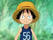 Luffy im Alter von sieben Jahren