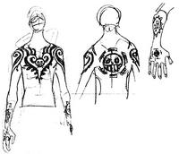 Trafalgar D. Water Law tatuaggi