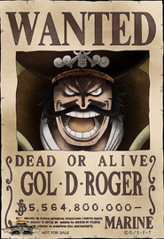 Gol D. Roger Wanted Poster
