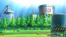 Interior de la Fábrica de SMILE en el anime