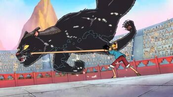 Monkey D. Luffy vs. Bacura