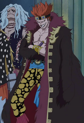 Eustass Kid before the timeskip in the anime