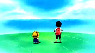 Luffy e ace