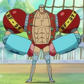 Franky tras el salto temporal en el anime