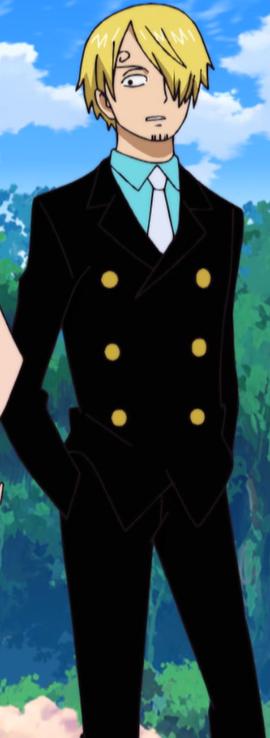 Sanji before the timeskip in the anime