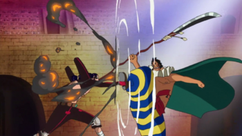 Arco de Dressrosa/Enfrentamientos
