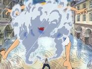 Smoker fängt Luffy mit der Moku Moku no Mi