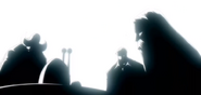Les cinq anciens écoutant le discours de Clover