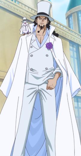 Rob Lucci tras el salto temporal en el anime
