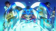 Akainu, Kizaru et Fujitora
