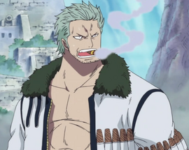Smoker before the timeskip in the anime