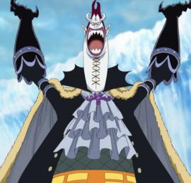 Gecko Moria in the anime