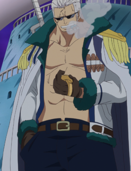 Smoker after the timeskip in the anime