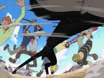 Санджи использует свой стиль боя