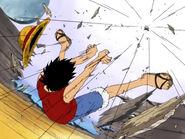 Luffy schießt Wapol von der Going Merry