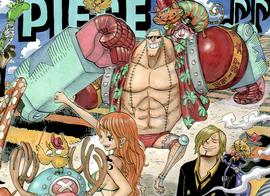 Franky tras el salto temporal en el manga
