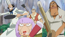 Fabre and other inhabitants of the island becomes to protect the bosses and the island.png