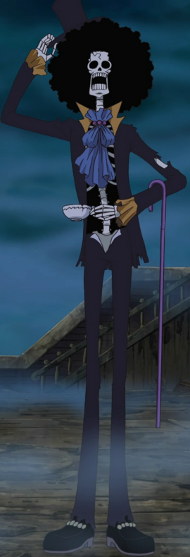 Brook before the timeskip in the anime