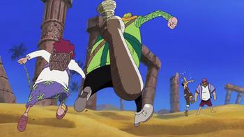 Episode of Arabasta: La princesa del desierto y los piratas/Enfrentamientos