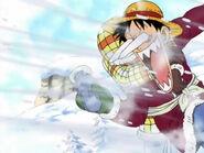 Luffy hat nur Sanjis Handschuh erwischt