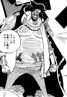 Marshall D. Teach before the timeskip in the manga