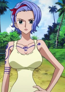 Nojiko before the timeskip in the anime