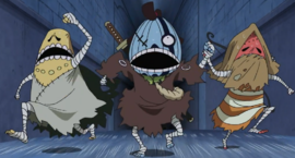 Gyoro, Nin, dan Bao dalam anime