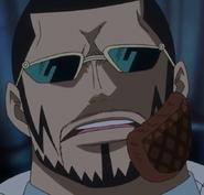 Vergo With Hamburger on Face