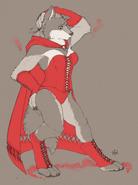 Jenny's red dress transformation