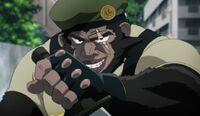 Colonel Gorille armé d'un couteau