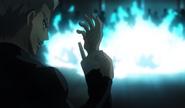 Garou rips off Blue Fire's arm Anime